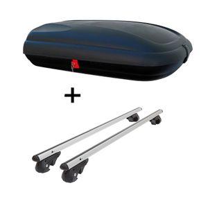 Dachbox VDPCA320 320Ltr carbonlook + Alu Relingträger VDP004L kompatibel mit Ford Mondeo BA7 07-'11