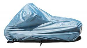 stabile Polyester Motorrad Abdeckung, Garage, Plane, wasserabweisend, winterfest, Gr. L 230x100x125 cm