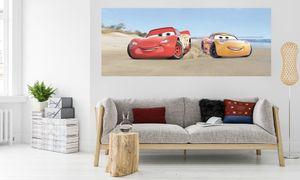 "Komar Digitaldruck Vliestapete ""Cars3 Beach"", bunt, 100 x 250 cm"