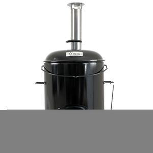 BBQ-Toro emaillierte Gulaschkanone mit Deckel, Kessel 17L und Pfanne