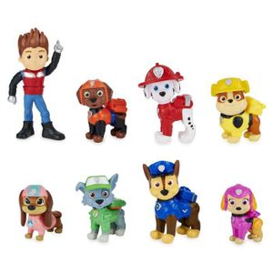 PAW Patrol Geschenkset mit 8 Figuren aus dem Film und exklusiver Sammelfigur: Liberty kommt zum Team, Junge/Mädchen, 3 Jahr(e), Mehrfarbig