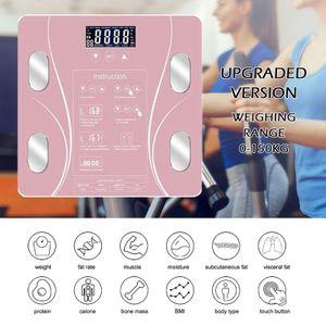 LOZAYI digitale Körperfettwaage, erkennt 15 Arten von Körperdaten: Gewicht, BMI, Wasser, viszerales Fett, Muskeln, Knochenmasse, Protein, Kalorien
