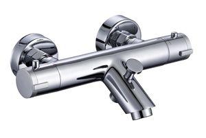 Schütte Design-Wannenfüllarmatur LONDON Thermostatarmatur mit Verbrühschutz Chrom 52470