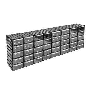 40 Schubladen Regal transparente Schübe Kleinteilemagazin endlos erweiterbar Mod