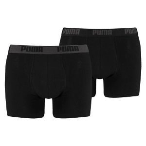 Puma Herren Boxershorts Basic 2er Pack black / black L