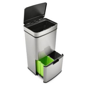 SVITA Sensor-Mülleimer 72L Edelstahl Mülleimer mit Sensor Abfalleimer