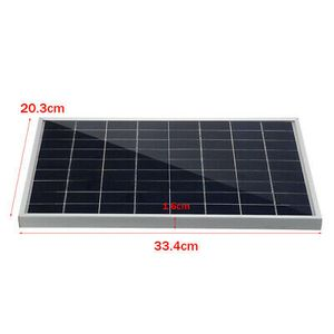 30W 12V Solarpanel Solarmodul Solarzelle + 40A Solar Laderegler Kit Camping Boot