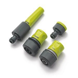 REHAU Schlauchkupplungs-Set 1/2 Zoll mit Hahnanschluss, Schnellschlauchstück, Wasserstop, Spritze