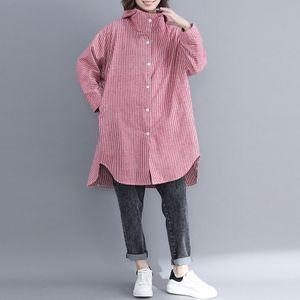 Mode Frauen Gestreifte Kapuzenjacke Vordere Knoepfe Langarm Asymmetrischer Saum Fruehling Lose Mantel Oberbekleidung