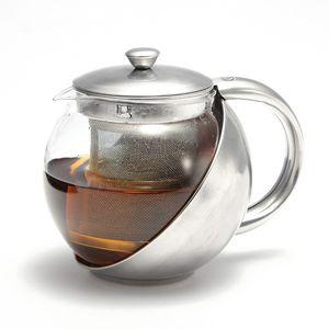 Teekanne Glas Edelstahl Sieb Teebereiter Glaskanne Teesieb Teeeinsatz Teapot