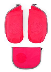 ergobag cubo Seitentaschen Zip-Set 3tlg. Sicherheitsset Kinder Pink