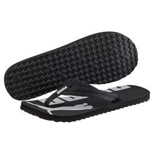 PUMA Epic Flip v2 Sandale Zehentrenner Schwarz-Weiss Schuhe, Größe:44 1/2