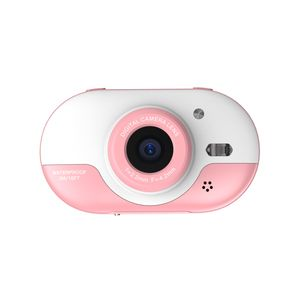 8MP Kinder Digitalkamera Kinder Wasserdichte Kamera mit Doppelkameras vorne und hinten 2,4-Zoll-IPS-HD-Bildschirm Ein-Klick-Foto / Video-Selbstausloeser fuer 5 Sekunden