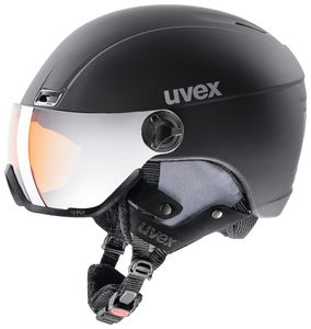 Uvex hlmt 400 visor style Skihelm mit Visier, Größe:58-61 cm, Farbe:schwarz