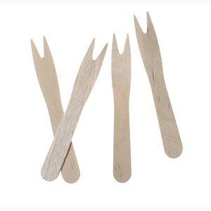"50 Pommes-Frites-Gabeln, Holz ""pure"" 8,5 cm"