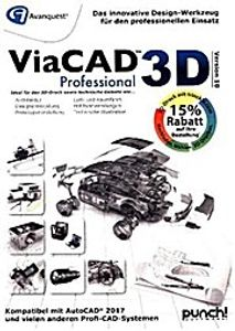 ViaCAD 3D Professional V10, 1 DVD-ROM