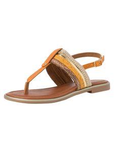 Marco Tozzi Damen Sandale orange 2-2-28143-26 F-Weite Größe: 38 EU