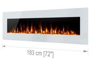 Noble Flame VEGAS Weiß: 1830 [Elektro Wandkamin]