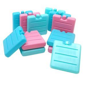 ToCi 12er Set kleine Kühlakkus in Blau, Pink und Grün | Mini Kühl-Elemente für die Kühltasche | Kühl-Akku für die Brotdose