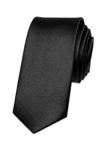 Krawatte Herren Hochzeit Konfirmation Slim Tie Retro Business Schlips schmal Autiga® schwarz
