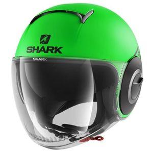 SHARK Jet Nano Street Helm - Neon, schwarz und grün