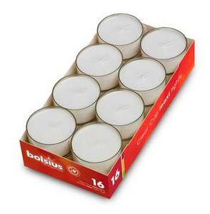 Bolsius Maxi-Teelichte 16 Stk. im Acrylcup, 9h Brenndauer