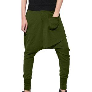 Herrenmode Reine Farbe Hose Freizeit Sport Hip-Hop Bleistifthose Haren Pants Farbe:Türkis,Größe:XXL