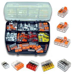 WAGO Sortimentsbox mit 150 Stück Verbindungsklemmen   Serie 221 und 2273   Box Set VerbindungsklemmeWAGO Sortimentsbox mit 150 Stück Verbindungsklemmen   Serie 221 und 2273   Box Set Verbindungsklemme
