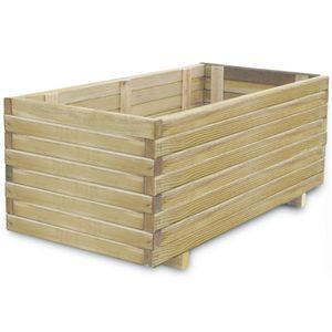 anlund Hochbeet 100x50x40 cm Holz Rechteckig