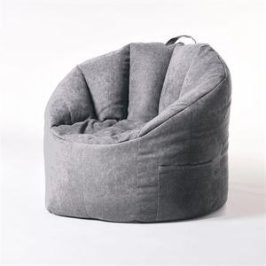 Neu No Filling YuppieLife Sitzsack Bean Bag Tragbar Sitzkissen Bodenkissen -Grau