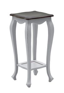 SIT Möbel Blumenständer | 1 Ablageboden | Akazie taupe | Deckplatte dunkelbraun | B 42 x T 42 x H 87 cm | 09777-97 | Serie SPA
