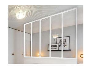 Atelier Glaswand Aluminium BAYVIEW - 150x130cm - Weiß