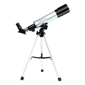 Astronomisches Teleskop Kompaktes tragbares Teleskop mit 90-facher Vergroesserung und verstellbarem Stativ fuer Kinderanfaenger