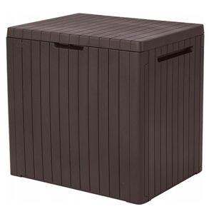 Balkon Gartenkiste 113 L braun Keter Gartenbox City Storage Box beständig gegen niedrige Temperaturen und UV-Strahlung