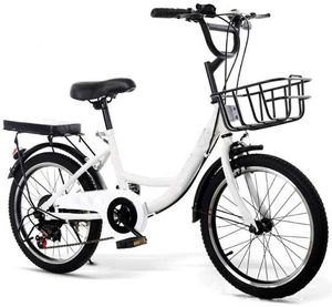 20 Zoll Fahrrad Mädchen Damen Bike Citybike Cityrad Rad Kinderfahrrad Downtownräder mit Fahrradschloss + Luftpumpe (Weiß)