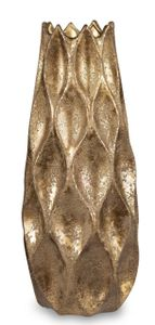 Deko Bodenvase GOLDEN ICE konisch H. 50cm gold geeist aus Keramik Formano W21