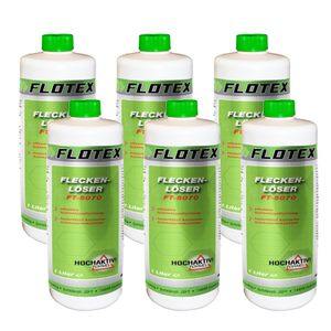 Flotex Fleckenlöser, 6 x 1L Fleckentferner Fleckenwasser Fleckenentferner Textilreiniger