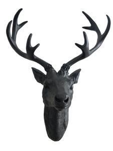 Hirschgeweih schwarz - 40 cm