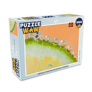 Puzzle 1000 Teile - Details einer Zitronenscheibe