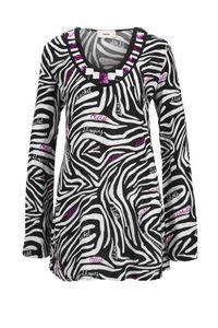 Heine Damen Tunika mit Pailletten, schwarz-weiß, Größe:34
