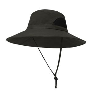 Herren Sonne Hut, Breite Krempe UV Schutz Eimer Hut, Faltbare Outdoor Angeln Hut Kappe für Jagd, wandern, Camping, Outdoor-aktivitäten Einstellbar Armeegrün Solide