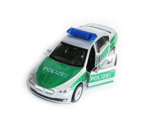 BMW 535i Polizei Silber-Grün 11,5 cm Modell Auto Metall Modellauto Spielzeugauto Kinder Spielzeug Welly 54
