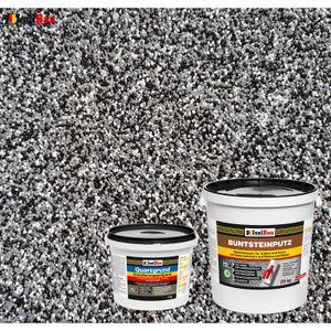 Isolbau Buntsteinputz SET Mosaikputz BP30 (schwarz, grau, weiss)  25 kg +Quarzgrund 4 kg