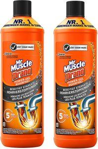 Mr Muscle Drano Power Rohrreiniger Gel Abflussreiniger rohrfrei 2er-Pack