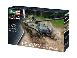 Revell 03328 1:72 T-55A/AM with KMT-6/EMT-5