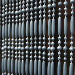 """Türvorhang """"Fréjus 5"""" 100 x 230 cm grau"""