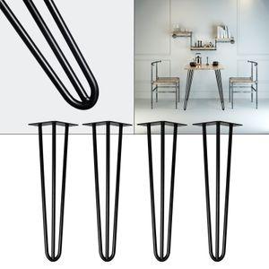 Tischbeine Hairpin Legs Tischgestell 4er Set Haarnadelbeine schwarz 45cm Tisch