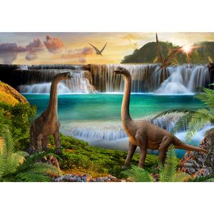 Dinosaurier 9191a RUNA Dinosaurier VLIES FOTOTAPETE XXL DEKORATION TAPETE− WANDDEKO 308 x 220 cm