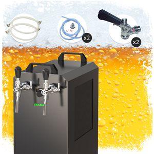 Komplett Set - Zapfanlage  STREAM 80K mit Luftpumpe Bierkoffer, Durchlaufkühler 2-leitig Trockenkühler, Zapfkopf:Kombi, Zapfkopf 2:ohne