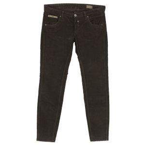 23873 Herrlicher, Touch,  7/8 Damen Jeans Hose, Cord Stretch, coffee, W 30
